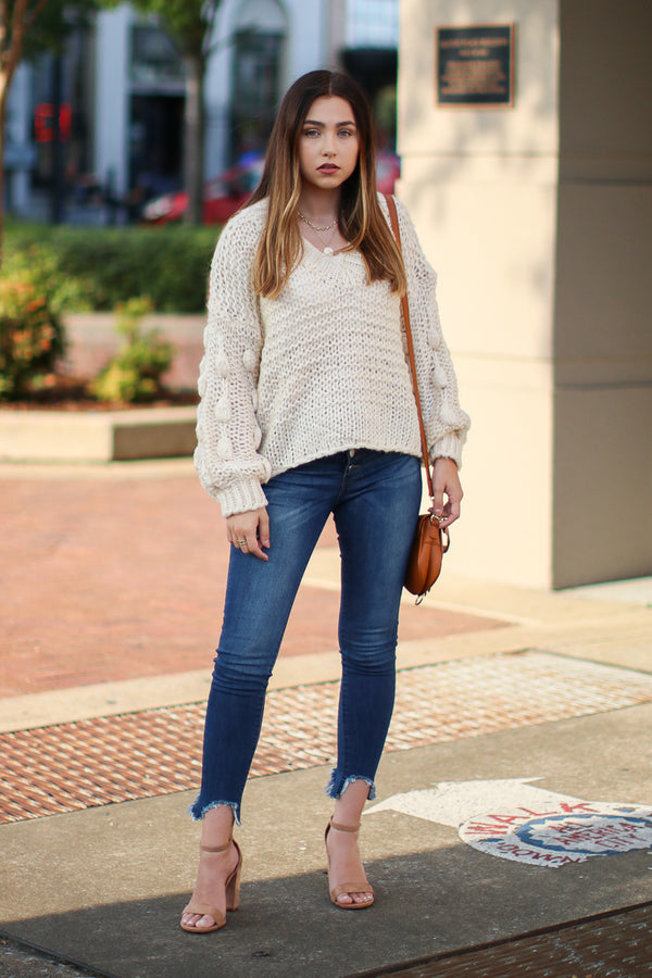 Obsession Confession Sweater - White - Madison + Mallory