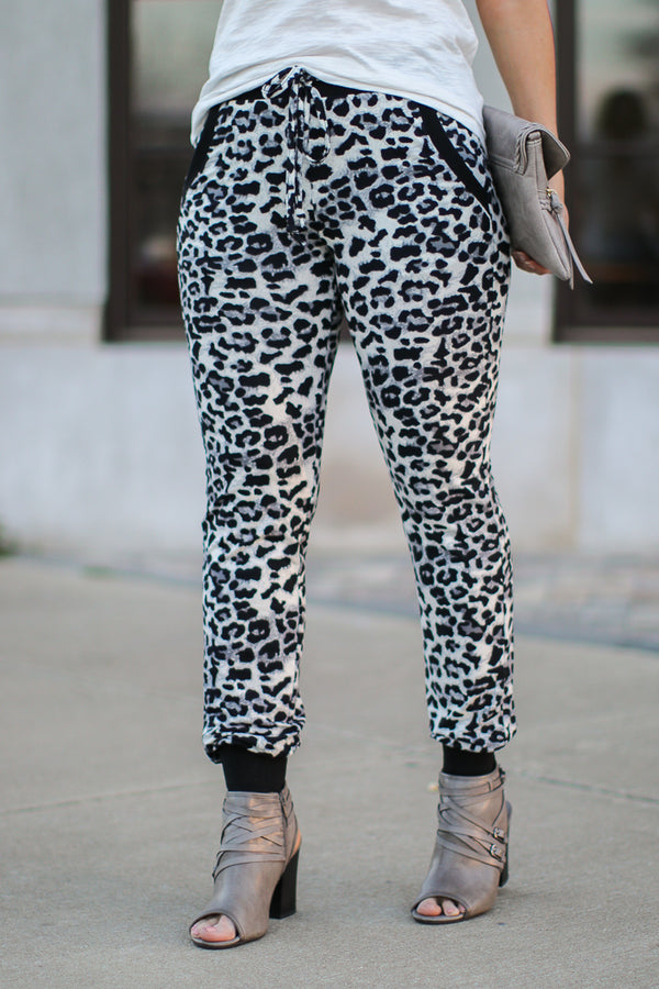 Lounge Out Loud Leopard Jogger Pants - Madison + Mallory