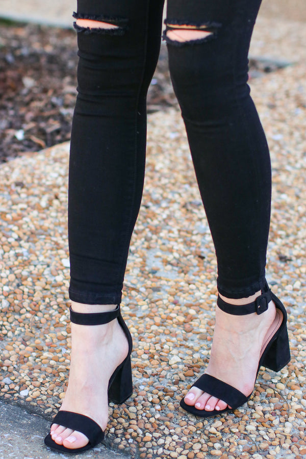 Chic Intuitions Faux Suede Heels - FINAL SALE - Madison and Mallory