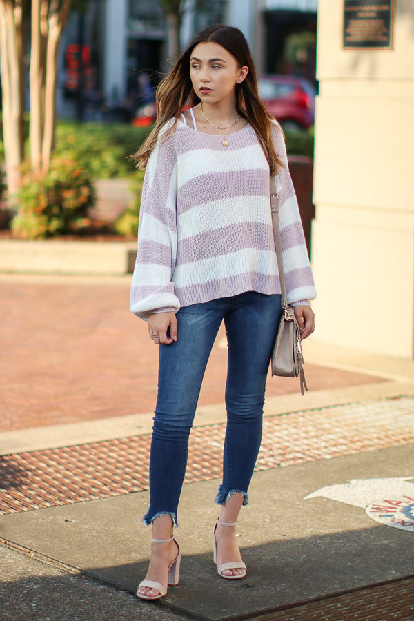 Forward Thinking Striped Sweater - Madison + Mallory