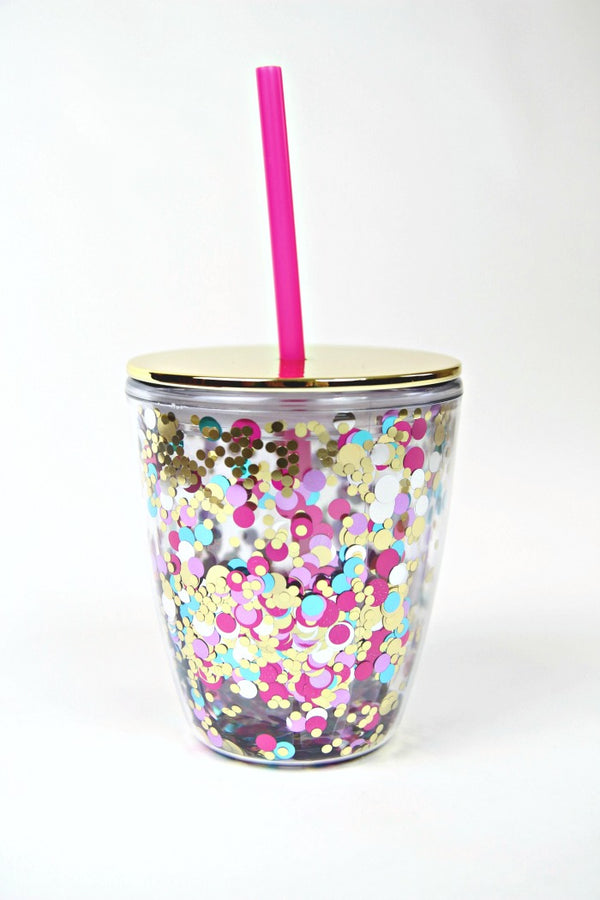 12oz Let's Party Mini 12 oz. Confetti Tumbler - Madison + Mallory