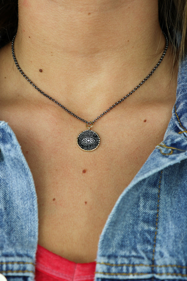 OS / Gunmetal Nightly Rituals Necklace - Madison + Mallory