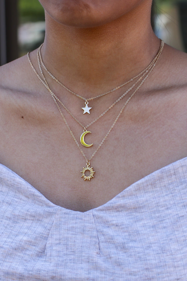 All of My Stars Celestial Layered Necklace