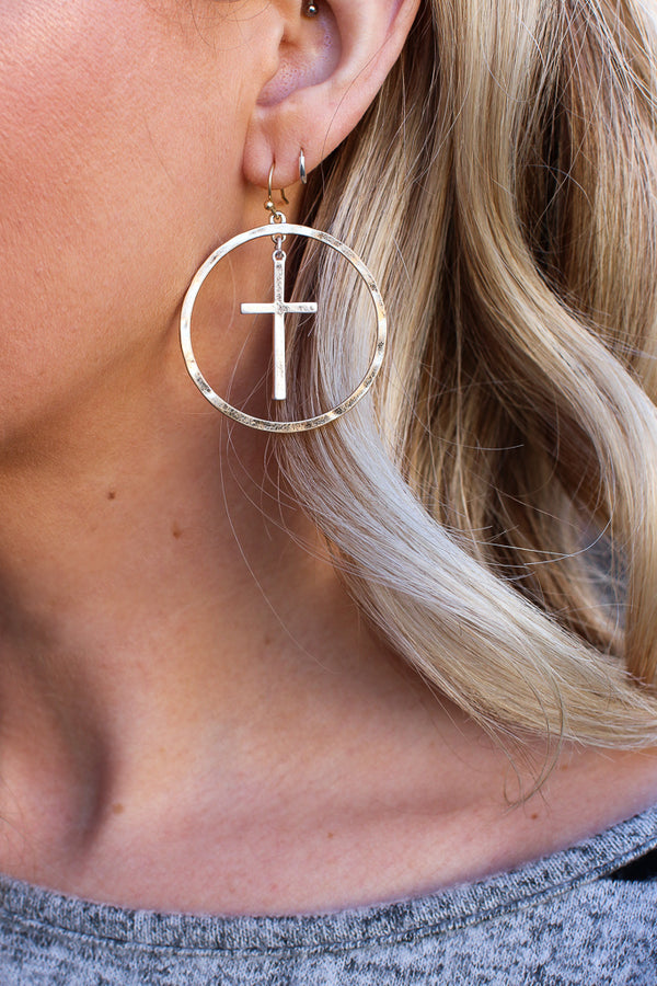OS More to Love Cross Earrings - Madison + Mallory