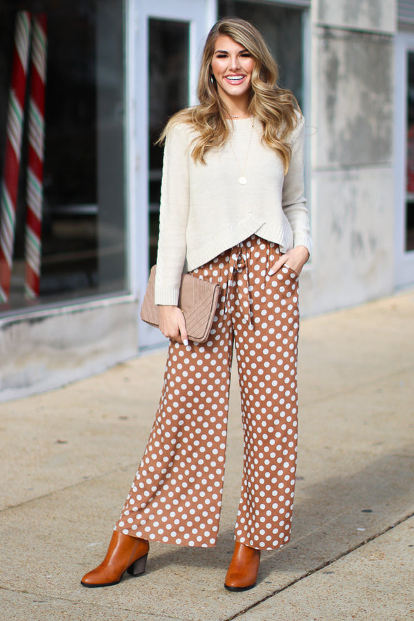 Novi Polka Dot Pants - FINAL SALE - Madison + Mallory