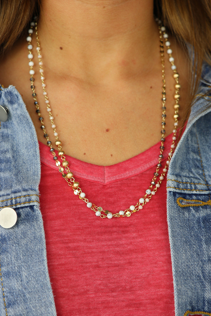 Demi Multi Bead Necklace