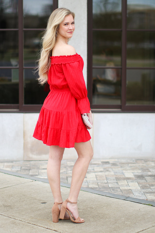 Voyager Off the Shoulder Tiered Dress - FINAL SALE - Madison + Mallory