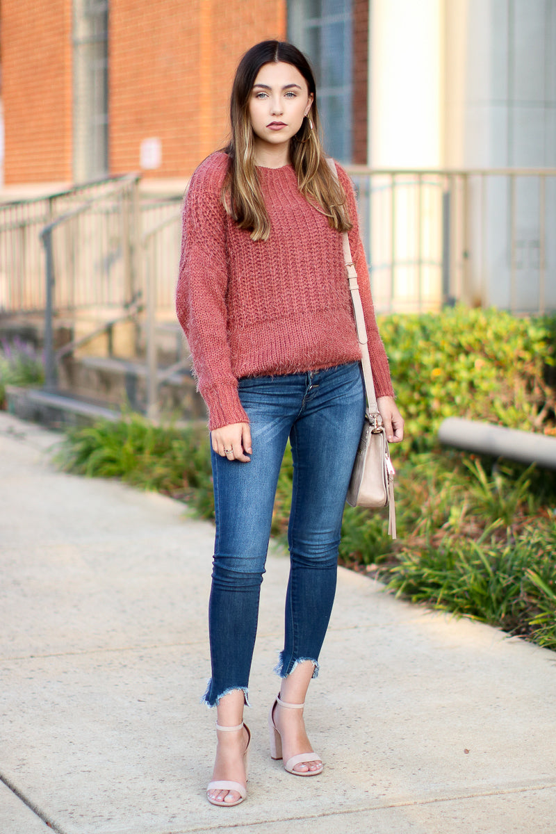 Dash Super Soft Sweater - Rust - FINAL SALE - Madison and Mallory