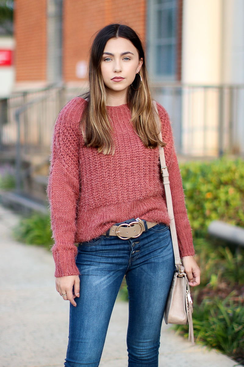 Rust / S Dash Super Soft Sweater - Rust - FINAL SALE - Madison and Mallory