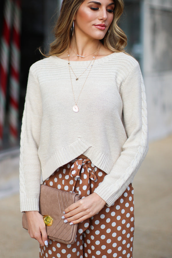 SM / Vanilla Bartley Cable Knit Sweater - Madison + Mallory