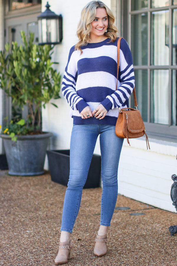 Taron Striped Sweater - FINAL SALE - Madison and Mallory