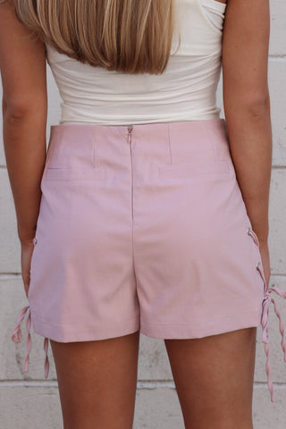 Side Lace Up Shorts