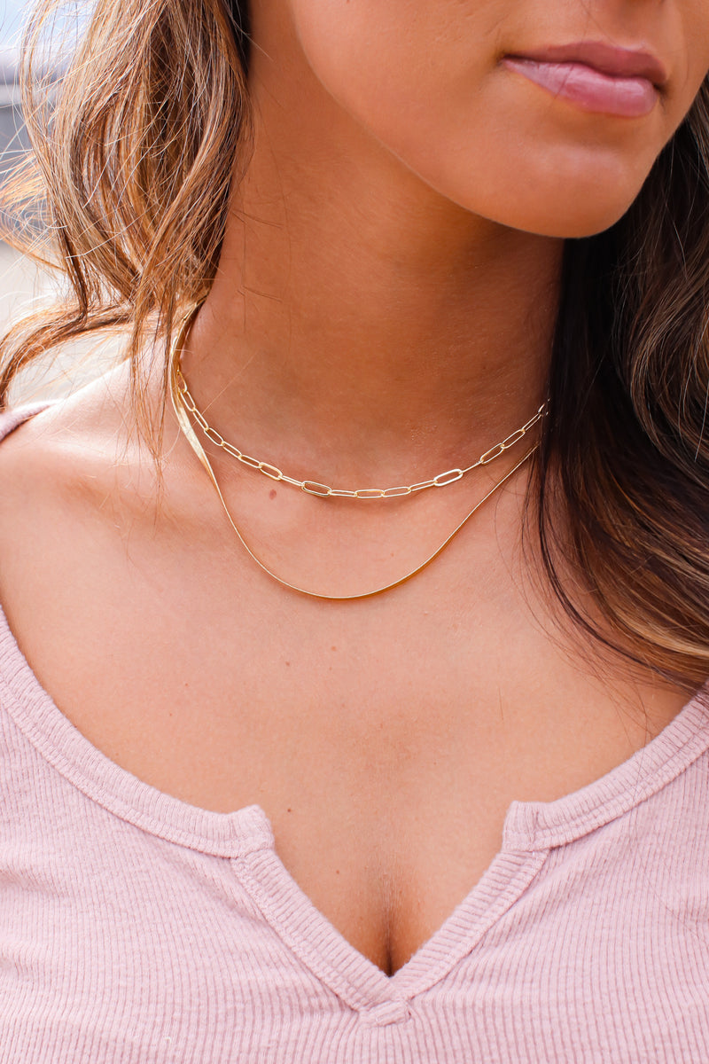 Gold San Angelo Layered Chain Necklace - Madison and Mallory