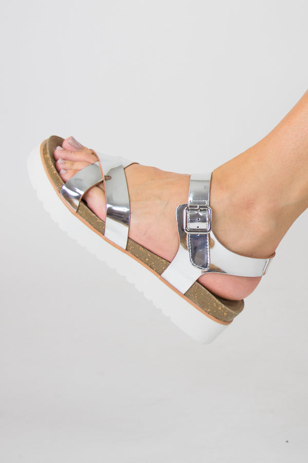 Aim to Shine Flatform Sandals - FINAL SALE - Madison and Mallory