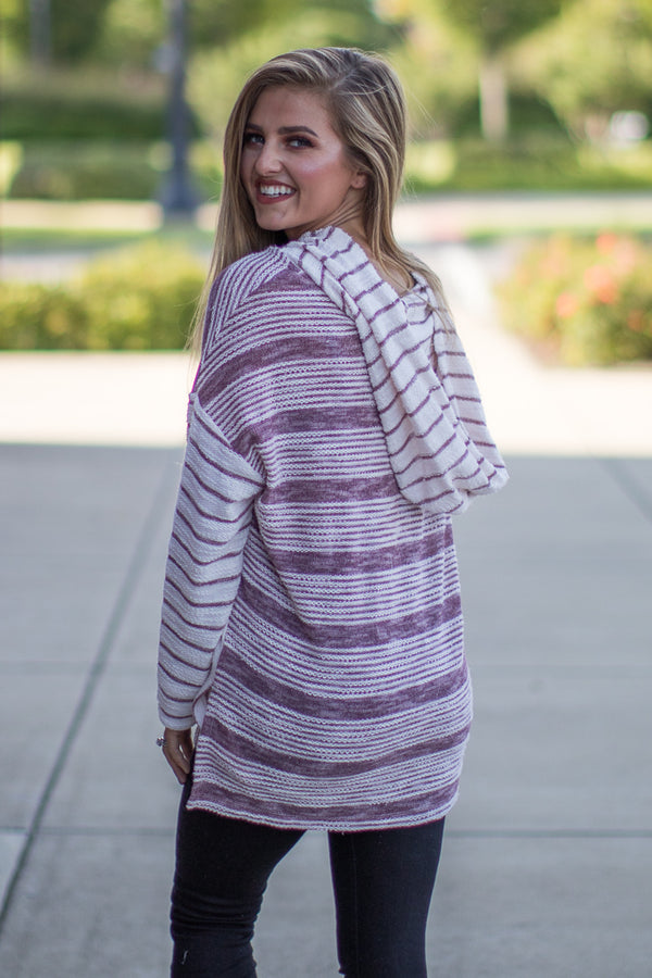 Regina Striped Pullover - Madison + Mallory