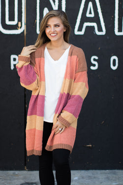 S / Rust Sunset Love Cardigan - Madison + Mallory
