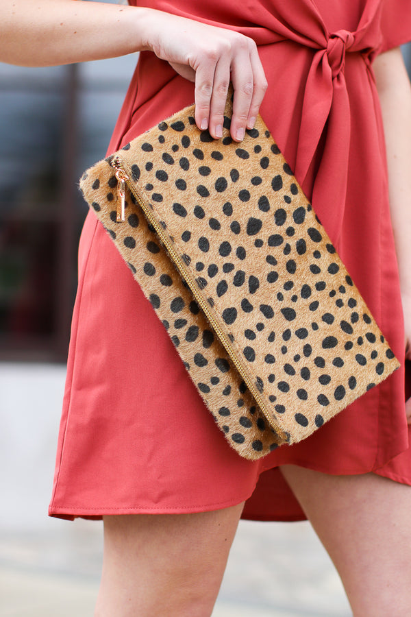 By All Accounts Leopard Envelope Clutch - Madison + Mallory