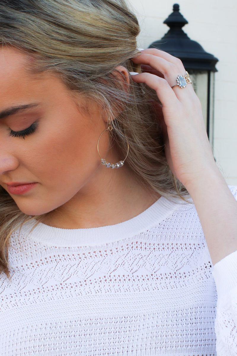 Take it Along Beaded Charm Circle Earrings - Madison and Mallory