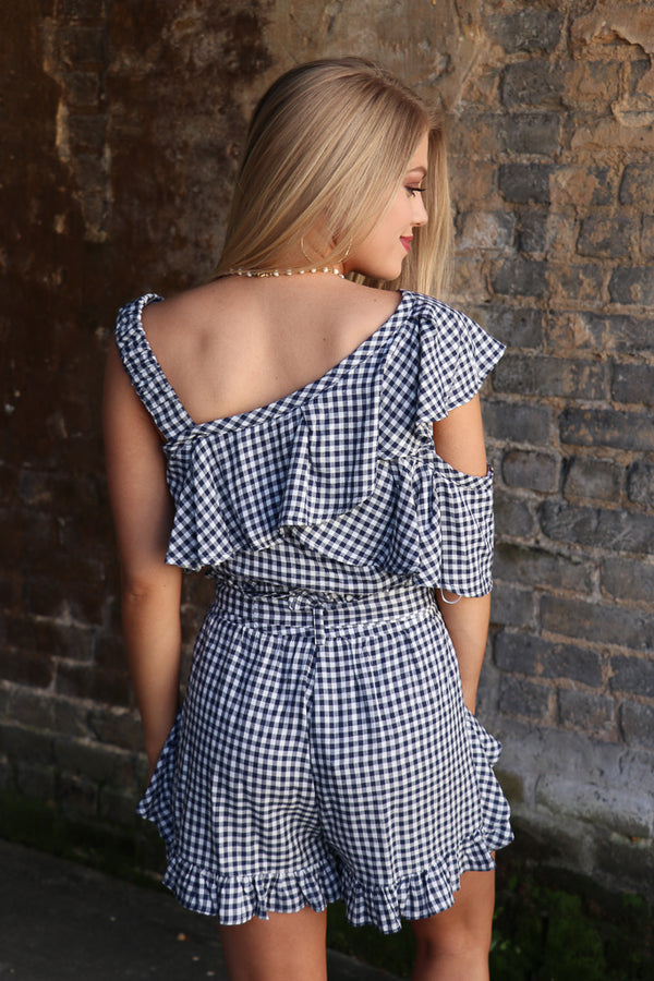 Gingham Ruffled Shorts - FINAL SALE - Madison + Mallory