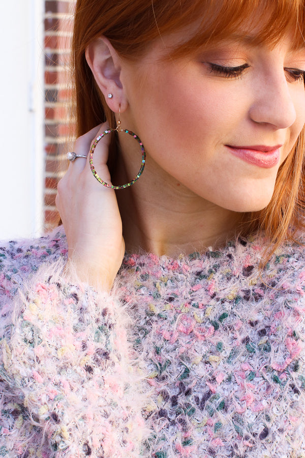 Multi Falling Fast Beaded Earrings + MORE COLORS - Madison + Mallory