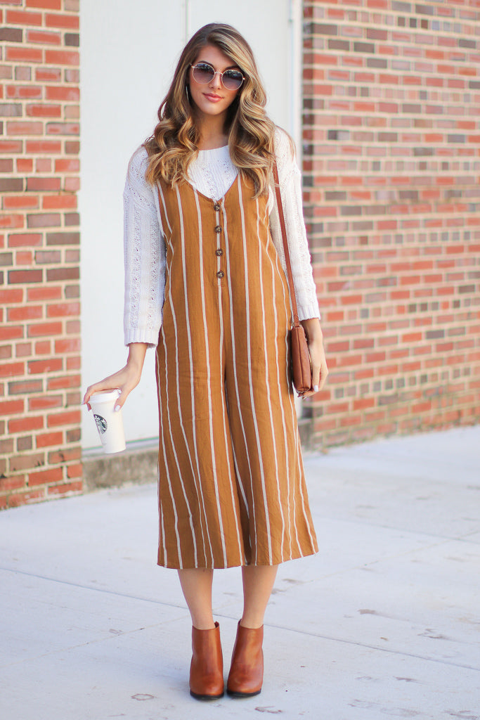 Looking My Way Striped Jumpsuit - FINAL SALE - Madison + Mallory