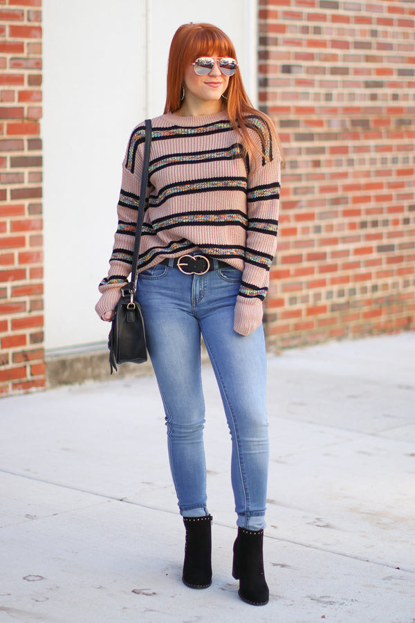 Feeling so Good Striped Sweater - Madison + Mallory