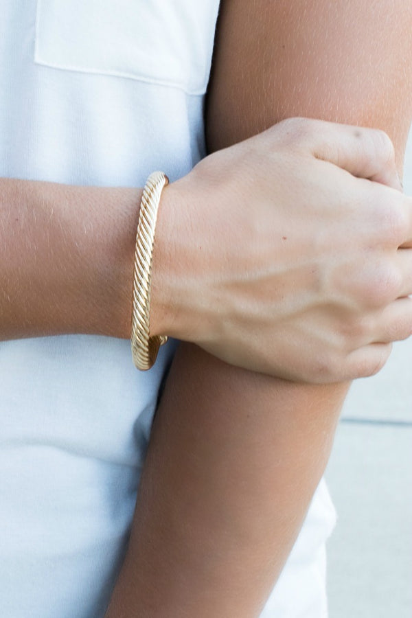 Twist in Time Cable Bracelet - Madison + Mallory