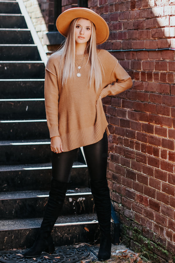 Softly Spoken Drop Shoulder Sweater - Madison and Mallory