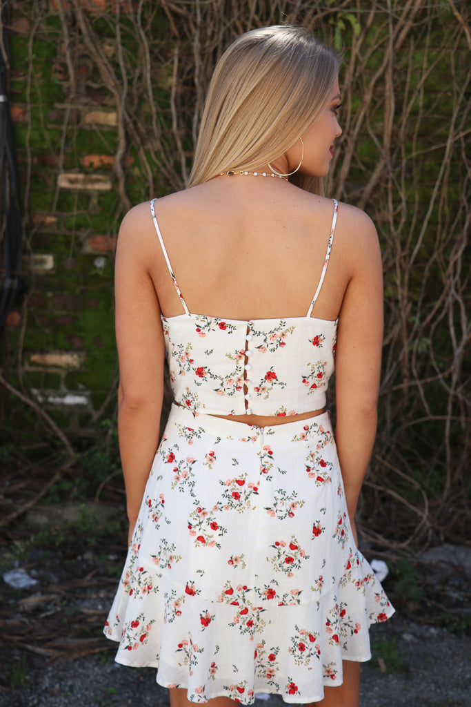 Floral Fit and Flare Skirt - Madison + Mallory