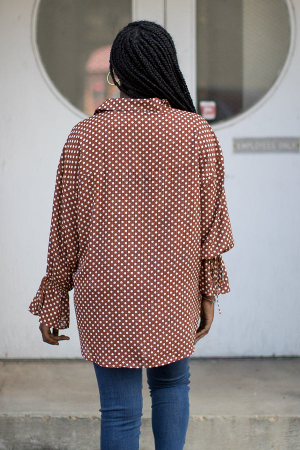 Polka Dot Perfection Top | CURVE - Madison + Mallory