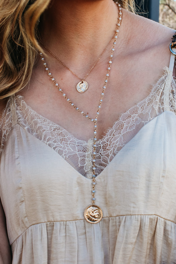 OS / Gray Triple Threat Layered Necklace - Madison + Mallory