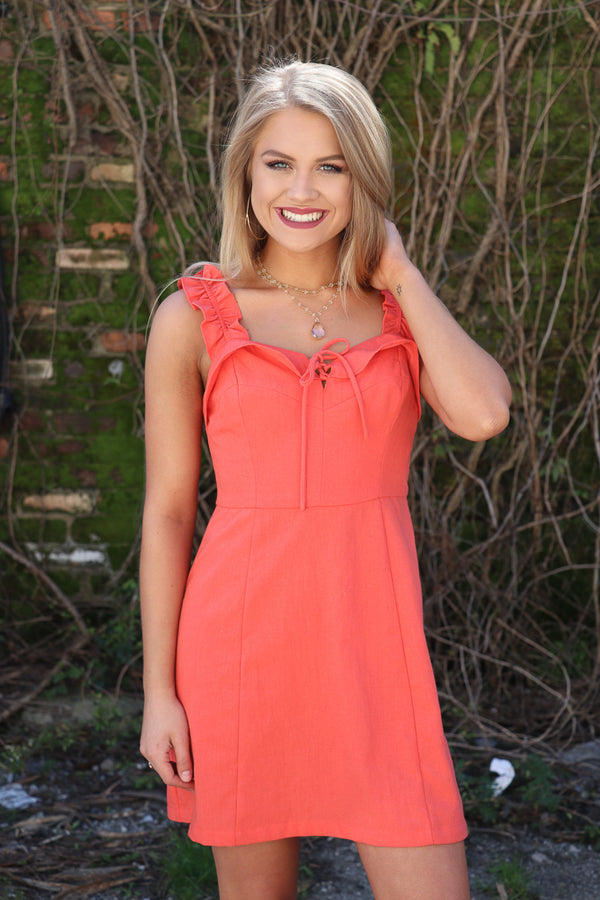 S / Tomato Allie Dress - FINAL SALE - Madison + Mallory