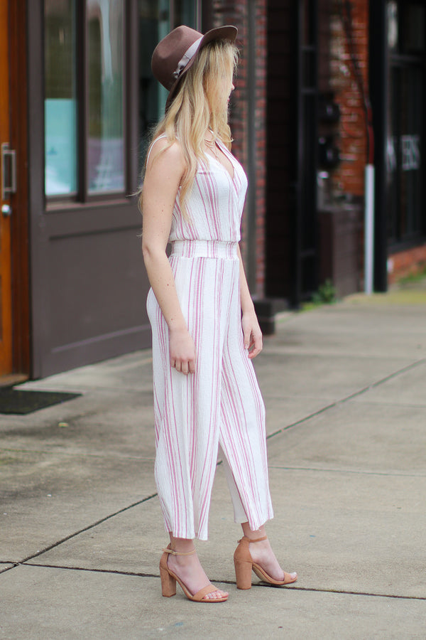 The Way We Were Striped Jumpsuit - Madison + Mallory