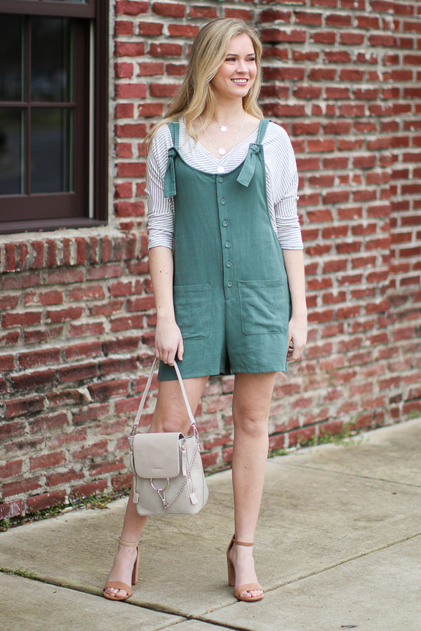 Simple Idea Button Up Romper - FINAL SALE - Madison + Mallory