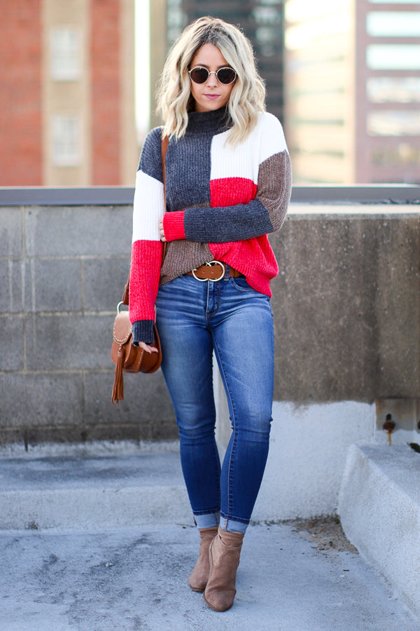Brave the Day Multi Color Sweater - Madison + Mallory