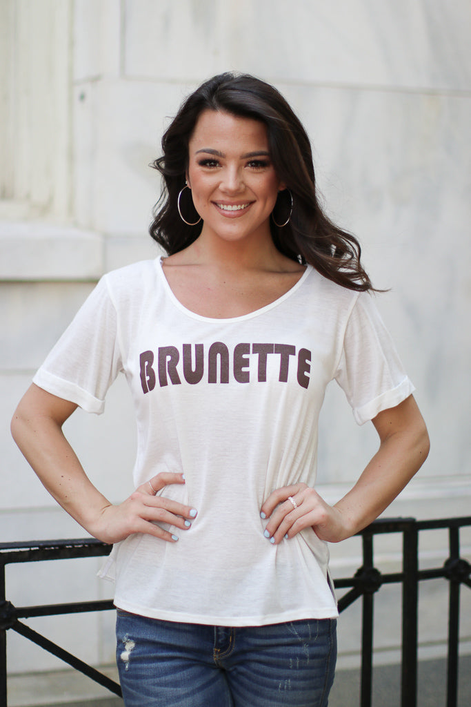 Brunette Graphic Top - Madison + Mallory