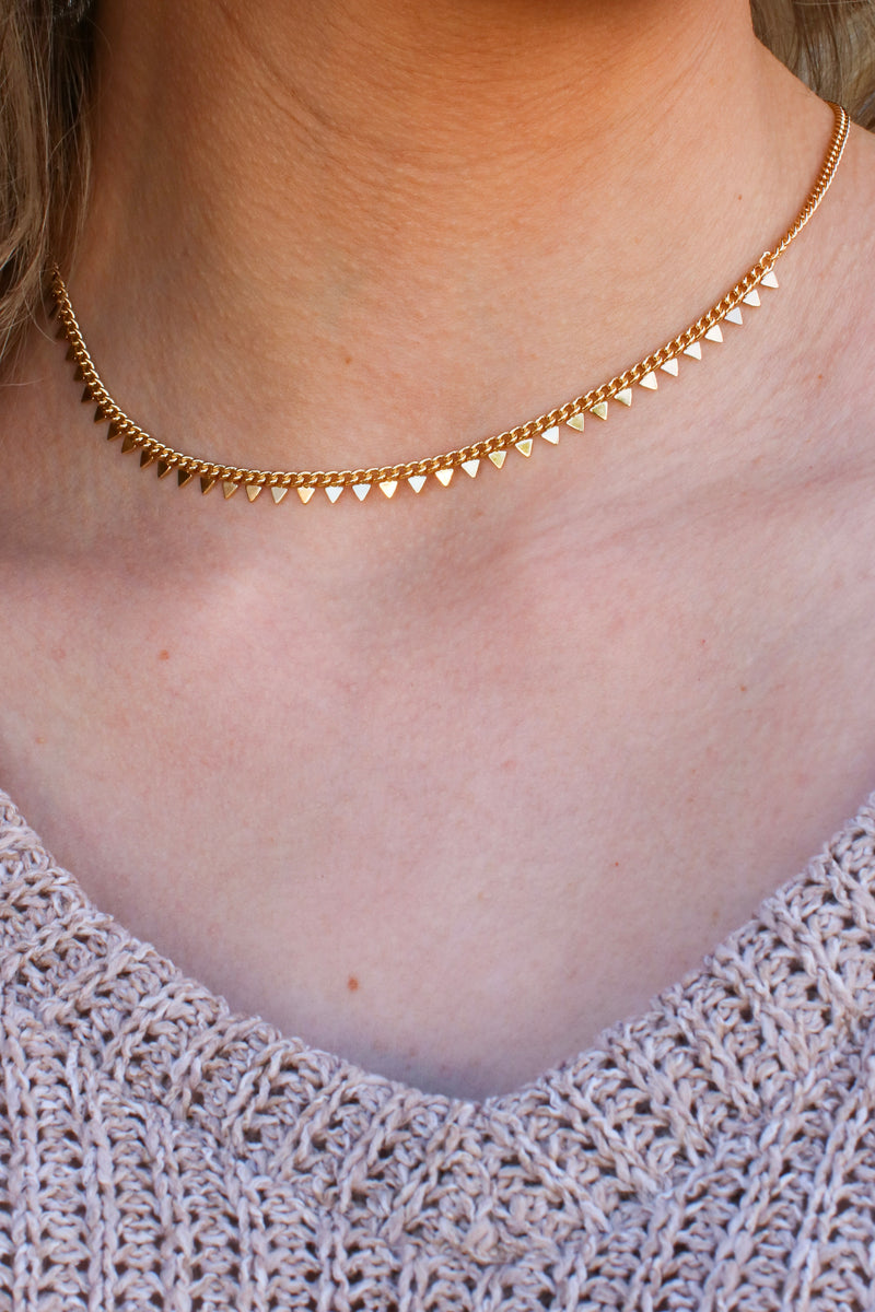 Gold Off the Chain Choker Necklace - Madison and Mallory