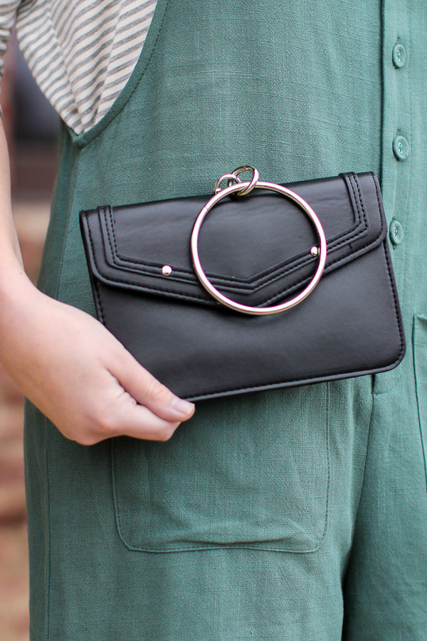 Black Holland Ring Crossbody Bag + MORE COLORS - FINAL SALE - Madison + Mallory