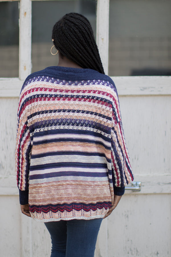 Dalary Striped Sweater - Madison + Mallory