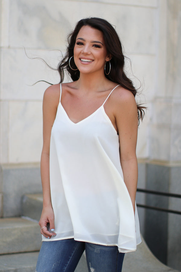 Flowy Chiffon Tank Top - Madison + Mallory