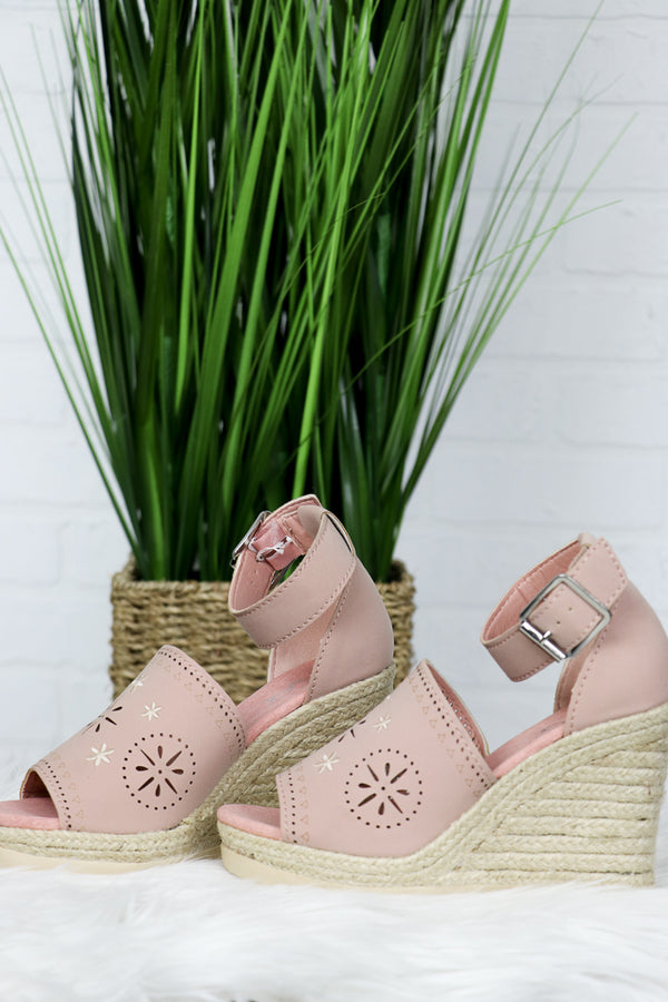 Eyelet Espadrille Wedges - Madison + Mallory
