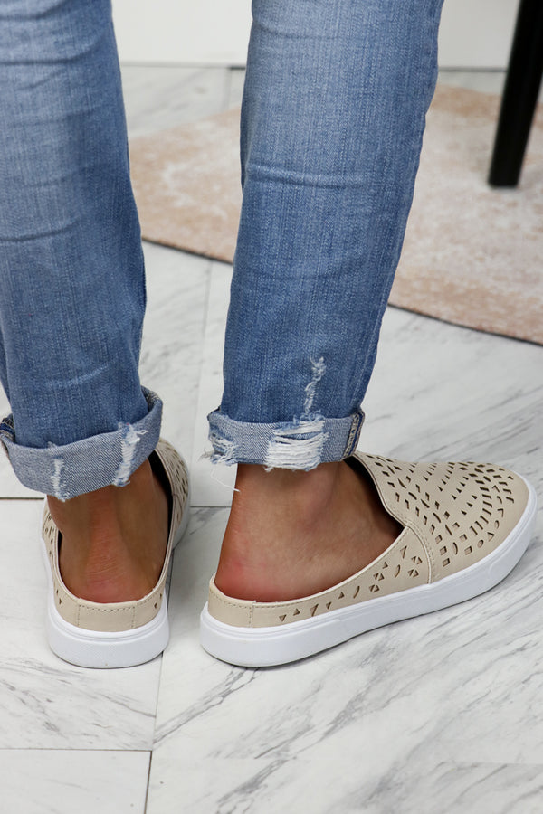 Nude Detail Slip On - FINAL SALE - Madison + Mallory