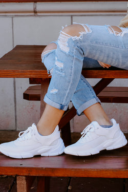 White / 6 Mile a Minute Mesh Sneakers - Madison and Mallory