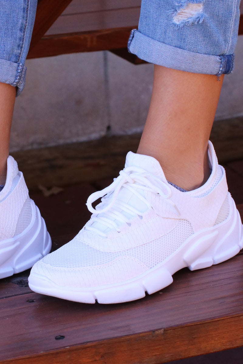 Mile a Minute Mesh Sneakers - Madison and Mallory