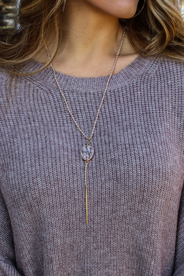 OS / Rose Located Fab Necklace + More Colors - Madison + Mallory