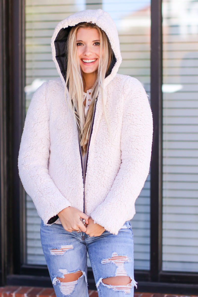 Roselle Reversible Sherpa Puffer Jacket - Madison and Mallory