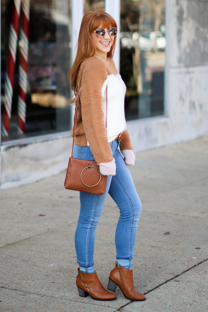Edge of Glory Color Block Sweater - Madison + Mallory