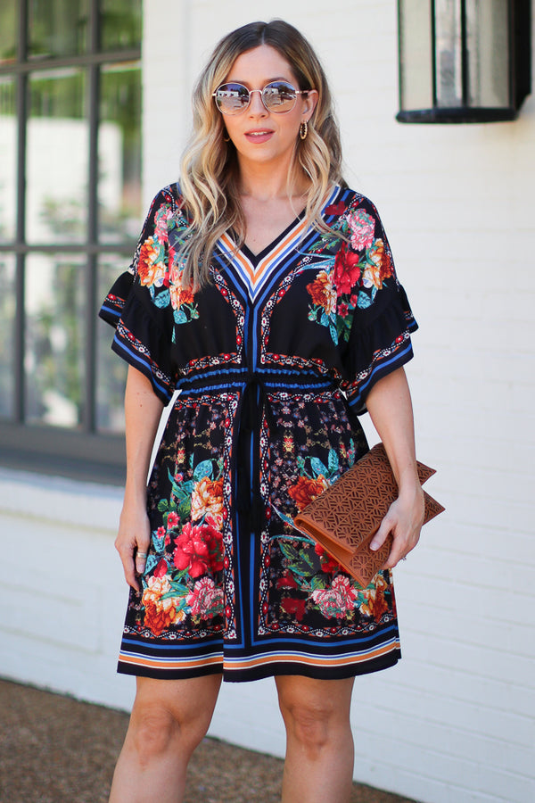 Sincerely Yours Floral Flared Dress - Madison + Mallory