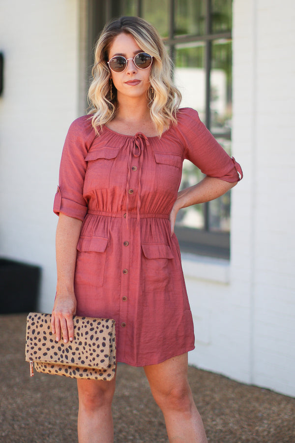 S / Sienna Give Me a Reason Utility Dress - Madison + Mallory