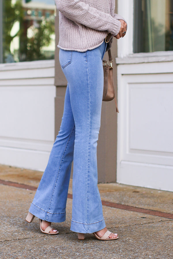 With or Without You Flare Jeans - FINAL SALE - Madison + Mallory